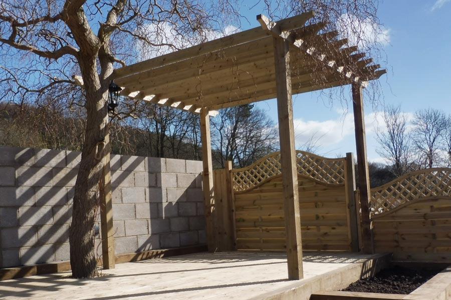 bespoke garden pergola and pagodas derbyshire