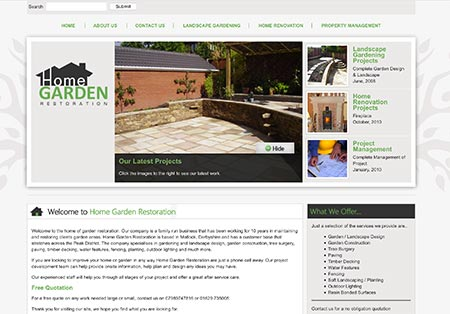 home garden restoration landscaping Derbyshire