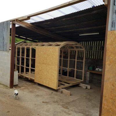 shepherds hut construction derbyhshire