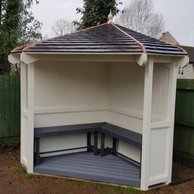 bespoke seating arbour example derybshire