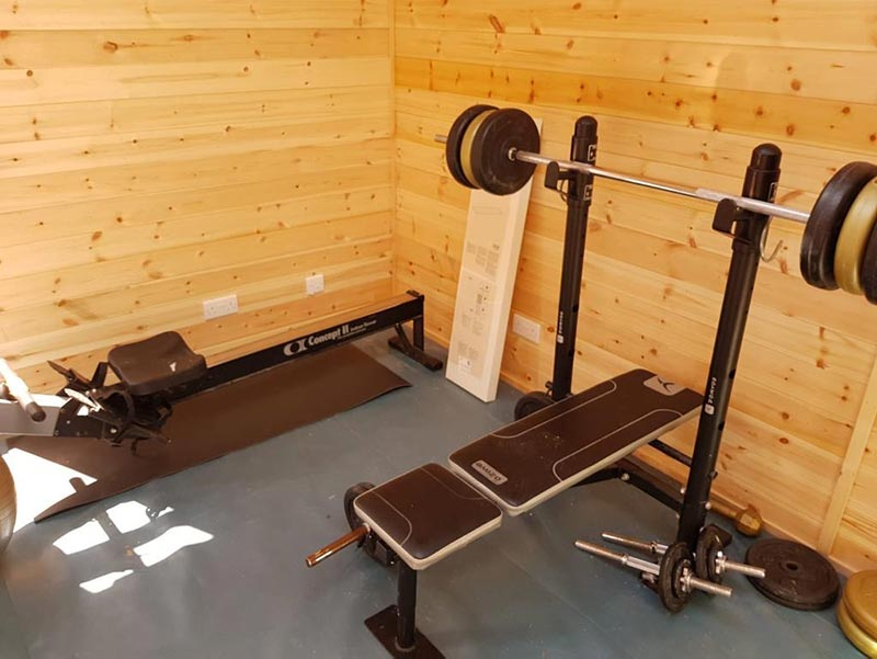 garden gym log cabin tansley derbyshire