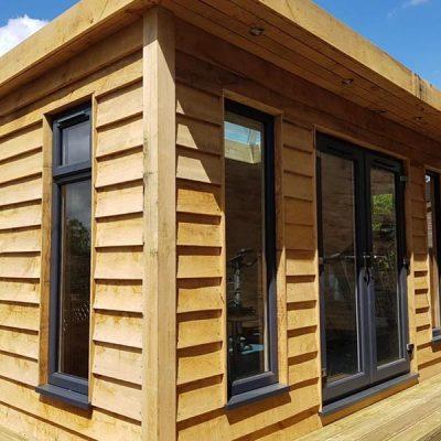 garden gym log cabin tansley derbyshire