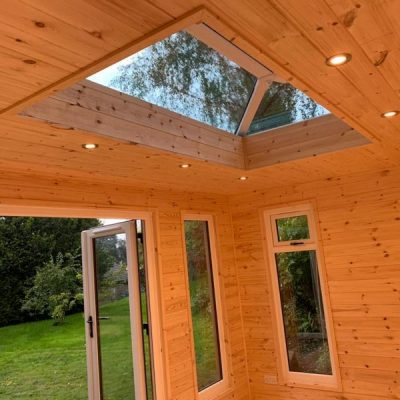 log cabin and podding shed darley dale derbyshire