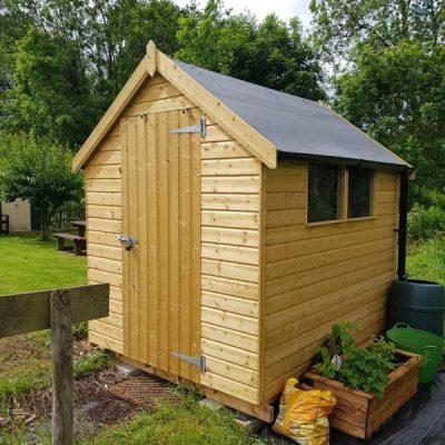 bespoke wide apex shed darley dale derbyshire